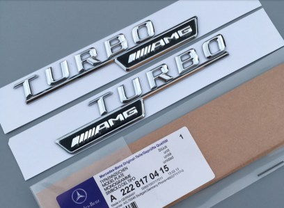 2-×Chrome-AMG-Turbo-Side-Decal-Badge-Sticker