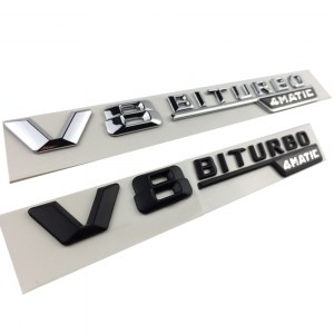 2pcs-pair-Black-Silver-3D-V8-Biturbo-4Matic-Emblem-Badge-Decal-Car-sticker-Car-styling-for (1)